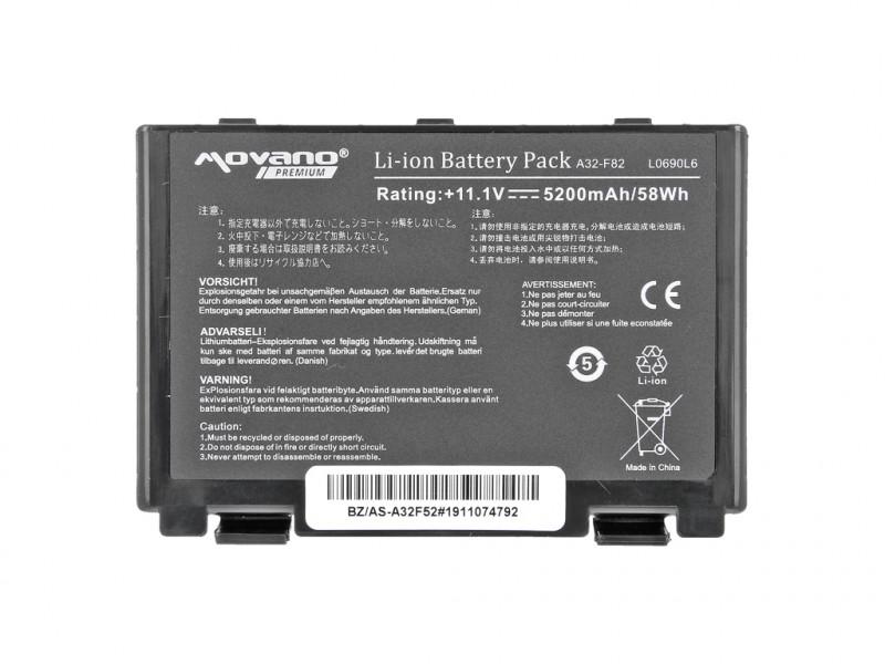baterie movano Asus F82, K40, K50, K60, K70